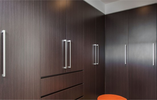 Gallery bedroom using polytec melamine doors